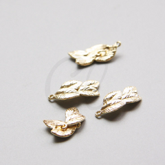 Brass Base Charm - Leaf 17x8mm (9670Z)