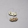 Brass Base Charm - Link - Mask With Rhinestone 15x7.5mm (10506Z)