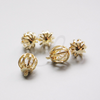 Brass Base Charm - Ball  with Rhinestone 15x12mm (6081Z)