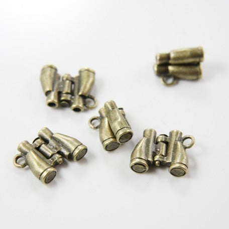 Base Metal Charms-Telescope/Binocular 14x16mm