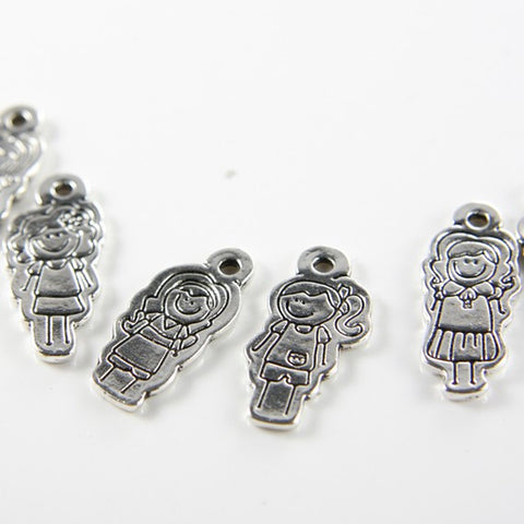 Base Metal Charms-Doll 31x14mm (8836Y)