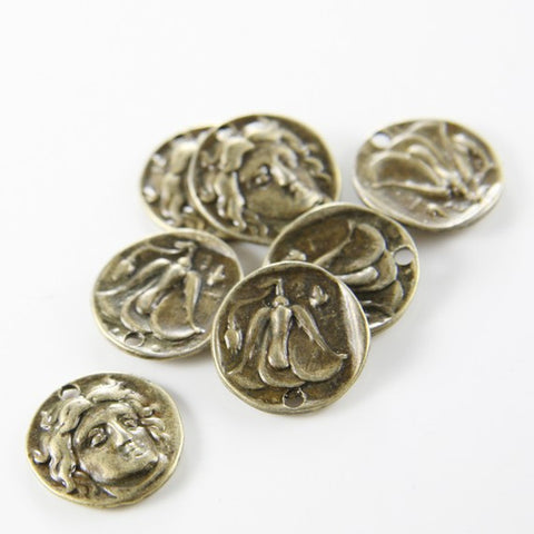 Base Metal Charms-Coin 17mm