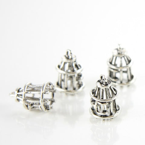 Base Metal Charms-Bird Cage 17x12mm (1505X)