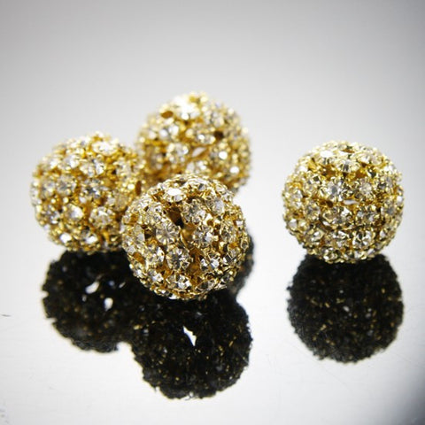 Base Metal Rhinestone Balls-20mm
