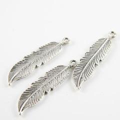 Base Metal Charms-Feather 45x11mm (1739Y)