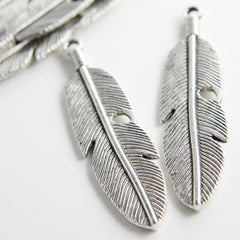 Base Metal Charms-Feather 61x15mm (12720Y)