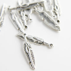 Base Metal Charms-Feather 27x5mm (505Y)