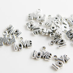 Base Metal Charms-Love 12x10mm (5234Y)