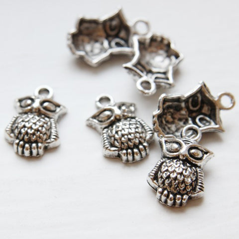 Base Metal Charms-Owl 21x13mm (10094Y)
