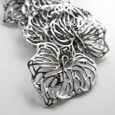 Base Metal Charms-Flower-Leaf 45x41mm (20148Y)