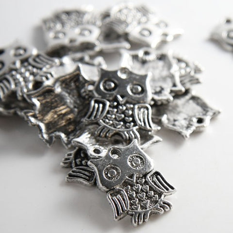 Base Metal Charms-Owl 18x16mm (14152Y)