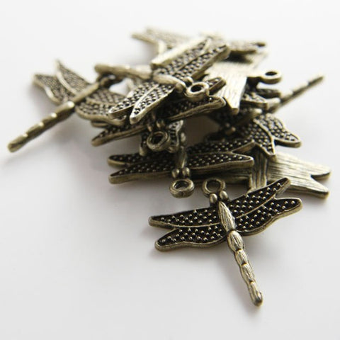 Base Metal Charms-Dragonfly 26x24mm (709Y)