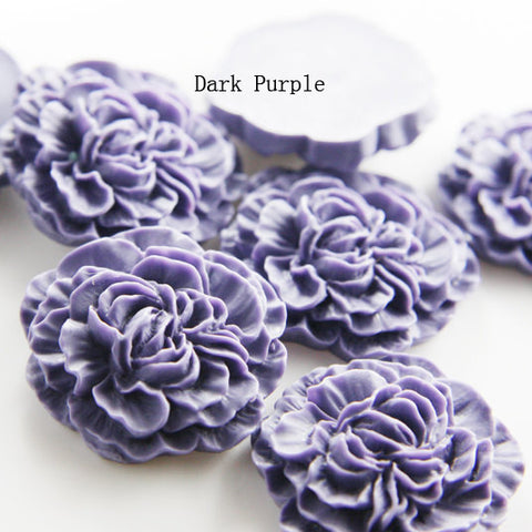 Acrylic Cabochons - Flower 33mm (F0014)