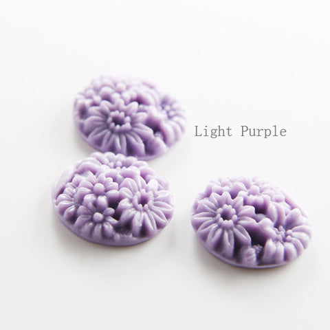 Acrylic Cabochons - Flower 20mm (71F)