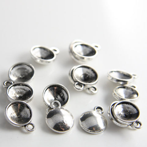 Base Metal Drop-Rhinestone Setting 12mm (13075Y)
