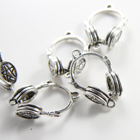 Base Metal Charms-Headsets 31x21mm (6942Y)