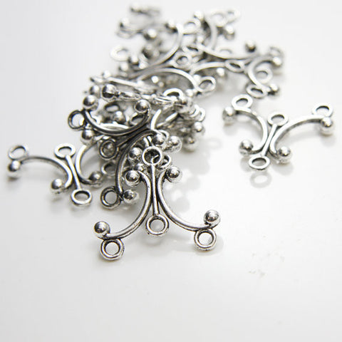 Base Metal Multiple Hole Findings-earring findings- chandelier 28x26mm (12169Y)
