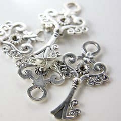Base Metal Charms-Key 62x33mm (1186X)