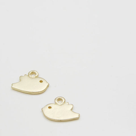 Brass Based Charms-Bird 14x11mm (81C)
