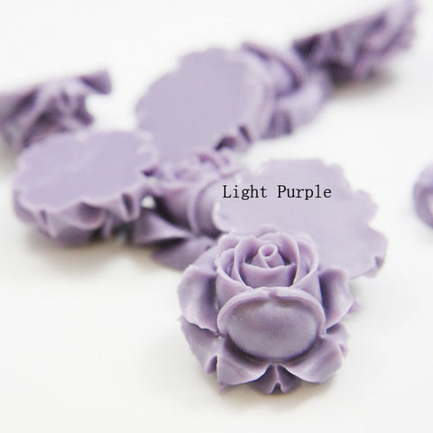 Acrylic Cabochons - Flower 26mm (F0004)