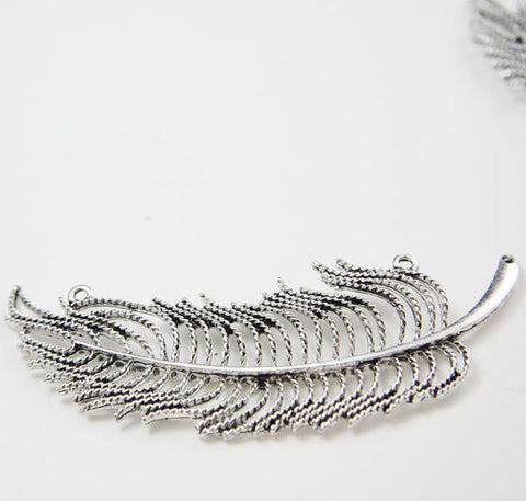 Base Metal Charms-Feather 81x29mm (20275X)