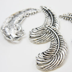 Base Metal Charms-Feather 53x25mm (3360X)