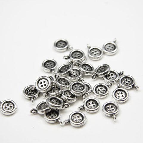 Base Metal Charms-Button 9x13mm (14135Y)