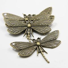 Base Metal Charms-Dragonfly 48x30mm (11706Y)