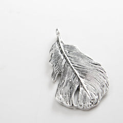 Base Metal Charms-Feather 49x25mm (26381Y)