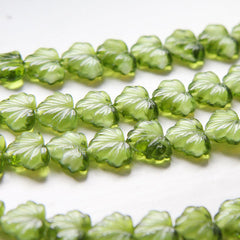 Czech Glass Leaves -11x13mm