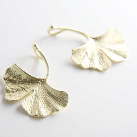 Base Metal Charms-Ginkgo 34x30mm-Right Side (69C)
