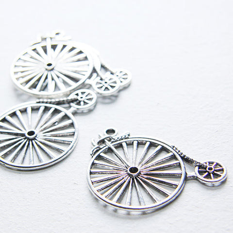 Base Metal Charms-Bike with Rhinestone Holes 53x46mm (13601Y)