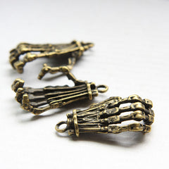 Base Metal Charm - Hand Skeleton 38x21mm (26361Y)