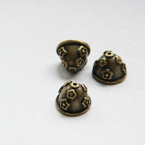 Base Metal Bead Cap - Flower 14x10mm (18579Z)
