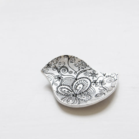 Base Metal Charm - Bird 29x16mm (109C)