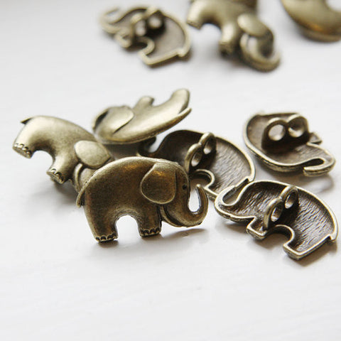 Base Metal Spacers- Two Holes-Elephant 15x25mm (16939Y)