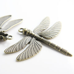 Base Metal Charm - Pendant - Dragonfly 71x64mm (19154Y)