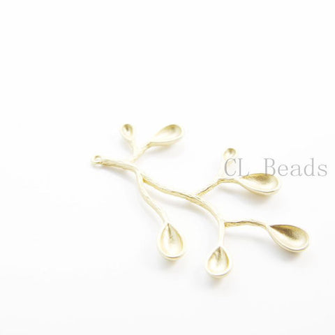 Brass Metal Charm-Branch 48x33mm (244C)