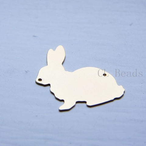Brass Base Metal Link - Rabbit 34x34mm (286C)