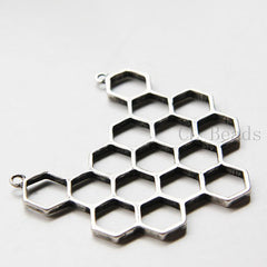 Base Metal Charms - Honeycomb 64x64mm (314C)