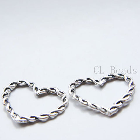 Base Metal Charms-Heart 27x32mm (22433Y)