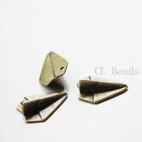 Base Metal Charms - Paper airplane 21x15mm (23971Y)
