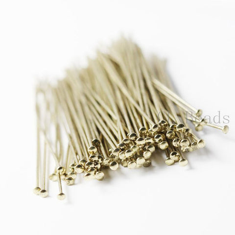 Brass Umbrella Head Pins-38mm (1.5 Inch)-21 Gauge (362C)