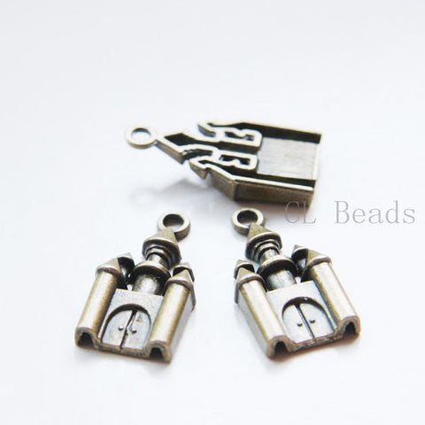 Base Metal Charms-Castle 28x14mm (19010Y)