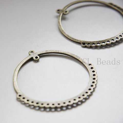 Base Metal Multiple Hole Earring Findings - 54x52mm (20246Y)