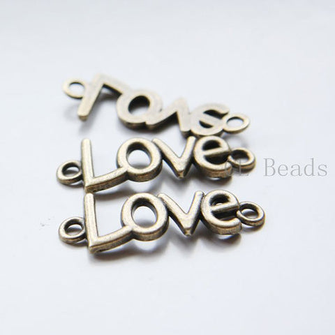 Base Metal Links-Love 36x13mm (17904Y)