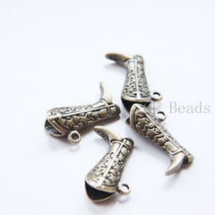 Base Metal Charm - Boot 27x21mm (23429Y)