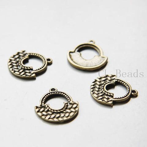 Base Metal Charms-Bag 23x21mm (22365Y)