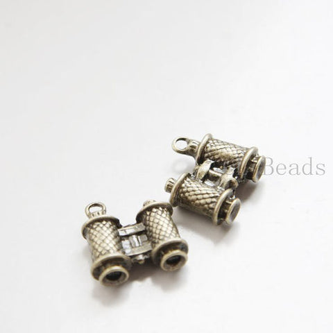 Base Metal Charms-Binoculars 18x18mm (23627Y)