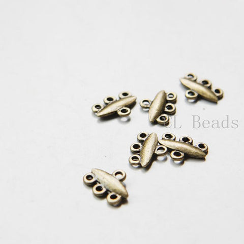 Base Metal 3 to 1 component or earring findings - 12x9mm (21484Y)